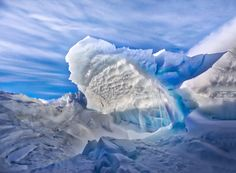 During my nightly hikes in Antarctica, I would try to visit new parts of the ice folds each time. They would change just a little bit every day as the sea ice crashed into the immovable earth. The shapes they made were mind-boggling. I'll never forget it. It was also quite scary, hearing all the ice creak and heave… unsettling and it made me feel quite small. - Antarctica - Photo from #treyratcliff Trey Ratcliff at http://www.StuckInCustoms.com