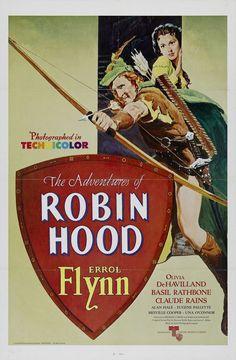 Errol Flynn and Olivia De Havilland in The Adventures of Robin Hood, 1938
