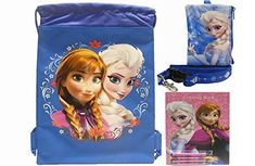 Disney Frozen Blue Drawstring Bag  Lanyard and Coloring Book Pack * Be sure to check out this awesome product.