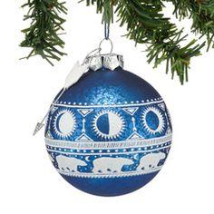 Bear Pattern Ball Ornament - 4048459