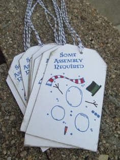 Some Assembly Required Christmas Gift Tags