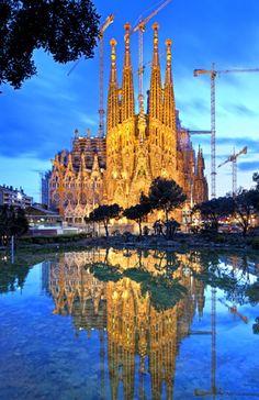 Breathtaking, I will visit Spain someday! Sagrada Familia in Barcelona, Spain -© Pietro Canali/SIME/4Corners