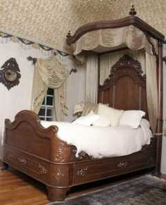 Antique French King Size Louis Xv Walnut Bed Antique Bedroom