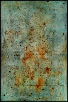 Tanya Bonello, Rust and Indigo, gypsum, rust and oil on board, 2004 Abstract Watercolor, Abstract Art, Abstract Paintings, Encaustic Painting, Artist Painting, Abstract Pictures, Texture Art, Contemporary Paintings, Painting Inspiration