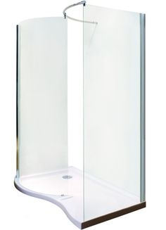 Hydrolux Meridian Walk In Shower Enclosure Pack with Tray & Waste
