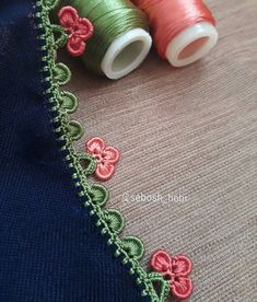 Three Leaf Pearl Crochet Oyasi Picture - My Recommendations Crochet Border Patterns, Crochet Lace Edging, Crochet Motifs, Filet Crochet, Baby Knitting Patterns, Crochet Flowers, Embroidery Patterns, Hand Embroidery, Embroidery Jewelry