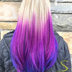 Loving this balayage technique using Aveda Vibrants Iris + Cobalt! Our stylist Cecilia layered Iris on top with Cobalt underneath and around the sides for a multidimensional look. Aveda Spa, Aveda Salon, Aveda Hair Color, Balayage Technique, Salon Services, Body Wraps, Spa Gifts, Manicure And Pedicure, Cobalt