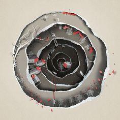 L'illustrateur estonien Eiko Ojala apporte un sentiment fantastique de profondeur et detexture dans ses illustrations éditoriales en utilisant des c