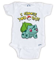 I Choose You POKEMON Baby Onesie Pokemon Baby by JujuApparel