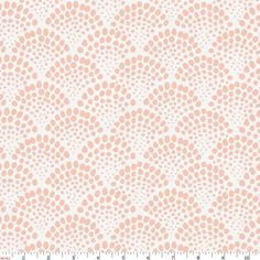 Peach Scallop Dot Fabric by Carousel Designs.