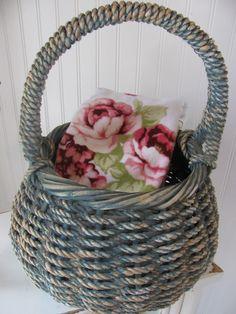 Vintage Blue Basket - Sold