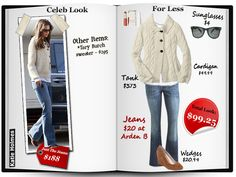 Katie Holmes look for less