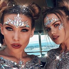AKYZO Adhesive Face Gems Festival Jewelry Temporary Face Jewels Stickers Party Body Rhinestone Flash Body Make Up Accessories Price: 4 Get up to off selected products. Gem Makeup, Galaxy Makeup, Rave Makeup, Body Makeup, Makeup Looks, Galaxy Hair, Jewel Makeup, Makeup Eyebrows, Festival Face Gems