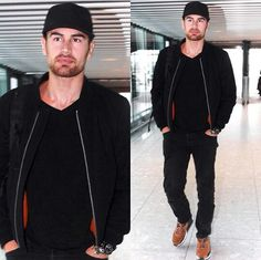 Theo James spotted in New York a couple of weeks ago