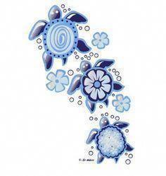 hawaiian tortoise tattoo designs, put Hawaiian flower design in body Love Tattoos, Body Art Tattoos, New Tattoos, Small Tattoos, Tattoos For Women, Tatoos, Tribal Tattoos, Ocean Tattoos, Wing Tattoos