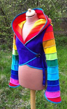 12 part rainbow Fleece 'Carache' Top by tpffaeriewear on Etsy