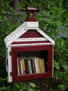 Little Free Library - Worldwide Effort to Build Tiny Community Libraries!  What a fantastic idea.