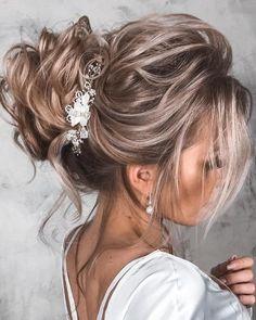 Long Hair Wedding Styles, Wedding Hairstyles For Long Hair, Elegant Hairstyles, Wedding Hair And Makeup, Up Hairstyles, Hairstyle Wedding, Bridal Hair Updo Loose, Hair Dos For Wedding, Messy Wedding Updo