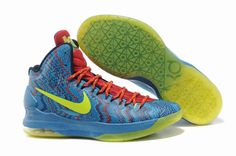 099b3a23812ed3 kevin durant shoes 2013 Nike KD V Hyper Blue Atomic Green Photo Blue  Challenge Red 554988