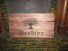 Hendryx with engraved tree
