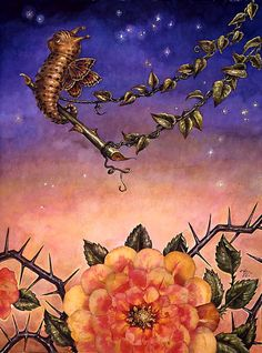 """Swing"" from the Slug Fairies series ~ Thomas Woodruff, Artist"
