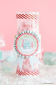 Christmas in white, light blue and pink / Weihnachten in Weiß, Hellblau und Rosa