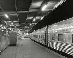"""Southern Aurora"", Platform Spencer Street Station Melbourne Australia by Wolfgang Sievers. Melbourne Victoria, Victoria Australia, By Train, Rail Train, Melbourne House, Spencer, World Images, Rock Pools, New City"