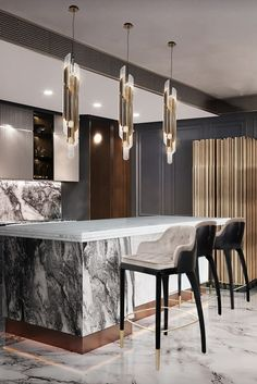 Luxury Kitchen Design, Kitchen Room Design, Best Kitchen Designs, Luxury Kitchens, Interior Design Kitchen, Interior Decorating, Kitchen Ideas, Kitchen Decor, Contemporary Interior Design