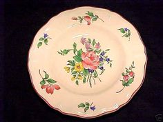 VINTAGE FRENCH LUNEVILLE FAIENCE RIM PLATE
