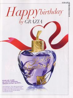 GRAZIA Fandelolita #126 10 au 16 février 2012 visuel Lolita Lempicka Anniversaire 15 ans !