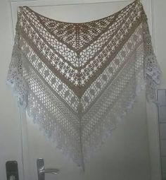 Ravelry: Edlothia pattern by Jasmin Räsänen Crochet Bolero, Crochet Diy, Crochet Shawls And Wraps, Crochet Woman, Crochet Scarves, Crochet Crafts, Crochet Clothes, Crochet Shawl Free, Shawl Patterns