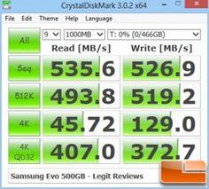 CrystalDiskMark Samsung Evo 500GB