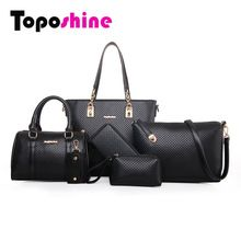 2015 New Arrival Small and Big Diamond Lattice 6sets Women Bags Fashion Women Shoulder Bag+Tote+Lady Handbag+Wallet+Card bag1012