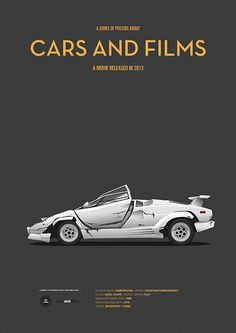 Poster of the car from Wolf of Wall Street. Illustration Jesús Prudencio. Cars And Films