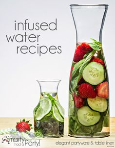 Water has never been so party-worthy. Keep guests hydrated and sipping pretty at summer events with invigorating infused water.