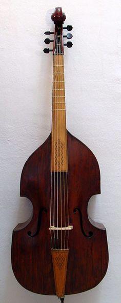 Violone in D Contrabasso di Viola da gamba Venetian, 17th C.