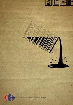 Código de barras #Publicidad #Carrefour