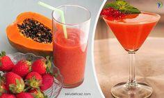 Batido de naranja fresas y papaya delicioso y saludable - Salud Eficaz