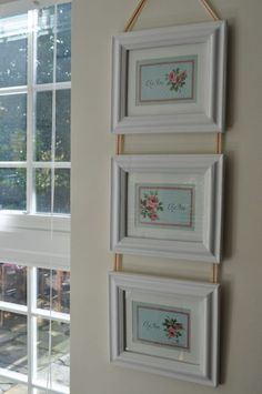Triple White Picture Frame