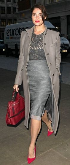 Gemma Arterton - love the pop of red