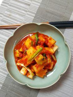 깍두기황금레시피, 아작아작 맛있는 깍두기 담드는법 : 네이버 블로그 Korean Food, Kimchi, Thai Red Curry, Cooking, Ethnic Recipes, Year Book, Cuisine, Kitchen, Korean Cuisine