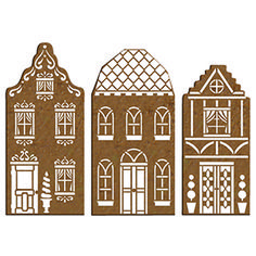 Townhouse Cookie Cutters and Stencil Set Cardboard Gingerbread House, Christmas Gingerbread House, Christmas Cookies, Christmas Ornaments, Gingerbread Houses, Christmas And New Year, Christmas Holidays, Merry Christmas, Christmas Decorations