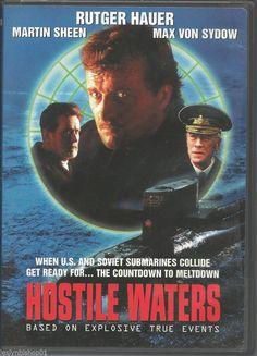 Hostile Waters (DVD, for sale online Water Movie, Rutger Hauer, Max Von Sydow, Video Cd, Martin Sheen, Submarines, Classic Movies, Thriller, Movie Tv