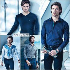Homens invistam em peças de roupa na cor azul. É fácil de combinar com outras cores e é sinal de elegância em qualquer ocasião. Fica a dica ;) #Dudalina #Homens #Camisa #RadicalChic