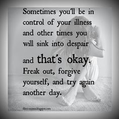 Some days you'll be in control of your sickness, some days will be despair #addiction #recovery