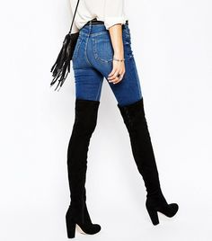 ASOS Lace Up Over-the-Knee Boots