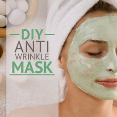 DIY Anti-Wrinkle Mask..make this at home!! #diyfacemask #facemaskforwrinkles