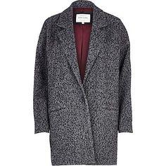 Grey tweed oversized coat - coats - coats / jackets - women