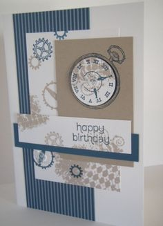 Finally a boy's card! by - Cards and Paper Crafts at Splitcoaststampers Masculine Birthday Cards, Birthday Cards For Men, Man Birthday, Masculine Cards, Boy Cards, Kids Cards, Cute Cards, Male Cards Stampin Up, Paper Crafts