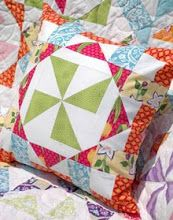 Virginia Reel Pillow for Fat Quarterly-click on photo at site for link to pattern